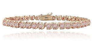 rose gold color bracelet images Cubic zirconia tennis bracelets jpg