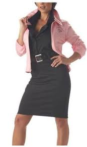Pink Lady Halloween Costume Womens Official Pink Ladies Jacket 50s Grease Fancy Dress