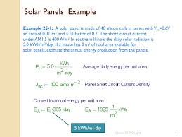 Solar Panels Estimate by Lesson 25 Solar Panels And Economics Of Solar Power Ppt