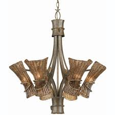 made from brushed steel and white glass this light fixture is an elegant way to bring a tropical vibe into your home