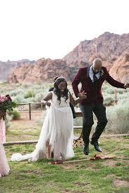 elegant african inspired mountain wedding ruffled