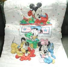 Mickey And Minnie Comforter Vintage 80s Disney Baby Mickey Mouse Minnie Crib Blanket Quilt