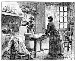 femmes plus cuisine ancienne illustration de femme dans la cuisine cliparts vectoriels