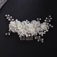 wedding hair comb floral hair combs vintage rhinestones pearl flower wedding