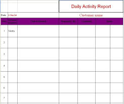 employee daily report template daily activity report template applicable photoshots employee