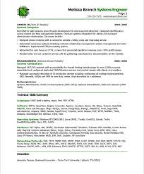 Cisco Network Engineer Resume Sample Systems Engineer Resume 22 Top 8 Embedded Samples In This File You