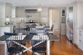 crackled subway tile kitchen traditional with boston breakfast bar