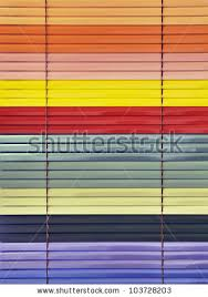 Colored Blinds Closed Rainbow Colored Blinds Showing Adjusting Stock Photo
