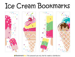 free printable ice cream bookmarks download the pdf template at
