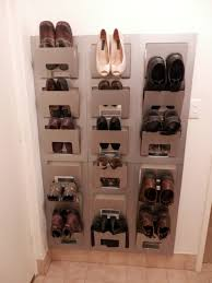 unique and unusual designed ikea shoe closet which is created