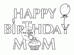 card for birthday mom coloring page for kids holiday coloring
