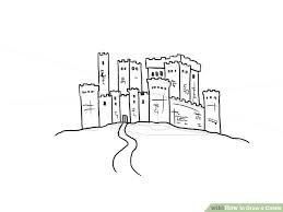 4 ways draw castle wikihow