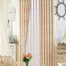 Childrens Nursery Curtains by Floral Neoclassical Pink Beige Curtains Kids Curtains