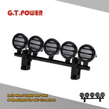 Led Light Bar Parts by G T Power Led Roof Light Bar Set 5 Spotlight For Rc Crawlers Black