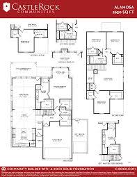 floor plan of the alamo alamosa silver home plan by castlerock communities in talise de