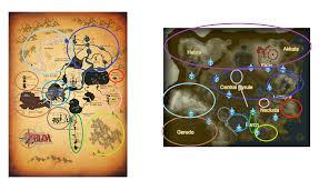 twilight princess map botw twilight princess map comparison
