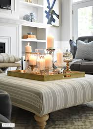 Lit Coffee Table 3 Ways To Style Your Coffee Table Or Ottoman