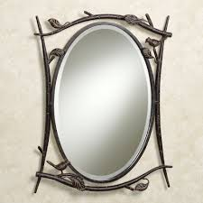 Oval Bathroom Mirror by Oval Beveled Bathroom Mirror