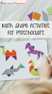 math shape activities for preschoolers really good teachers