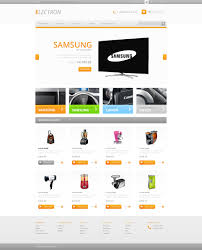 website template 29481 home electronics store custom design shop