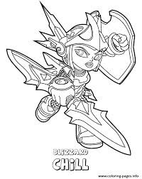 skylanders swap force water series2 blizzard chill coloring pages