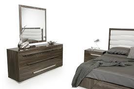 Grey Bedroom Dressers by Nova Domus Capulet Italian Modern Grey Bedroom Set