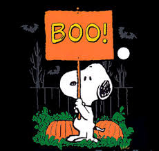 snoopy and charlie brown boo halloween peanuts snoopy