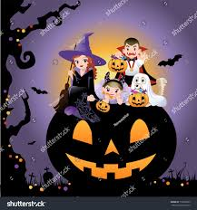 halloween background with silhouettes of children trick or treating in halloween costume halloween children wearing costume on huge stock vector 112802665