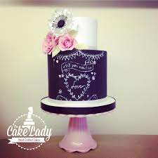 all you need is love cake by the cake lady chalkboard cakes