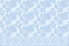 blue seamless victorian wallpaper with floral pattern vector
