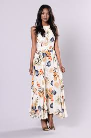 lengths dress ivory floral