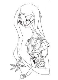 nightmare christmas colouring pages google nmbc