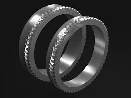 gear wedding ring clonova