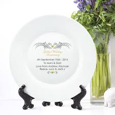 50th wedding anniversary plate personalised golden wedding anniversary plate