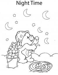 care bear moon stars care bears coloring pages free