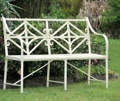 Cream Garden Bench Garden Benches Metal Interior Design