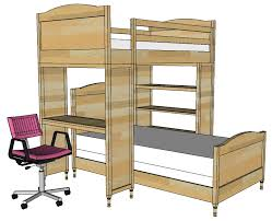 Free Building Plans For Loft Beds by Ana White Build A Chelsea Bunk Bed System Desk Or Bookshelf