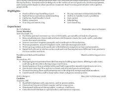 restaurant sample resume fast food server resume example