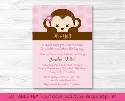 monkey invitations baby shower monkey baby shower invitations for technologydigest us