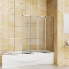 Shower Screens For Bath 4 Folds And 5 Folds Chrome Folding Bath Shower Screen Glass Panel