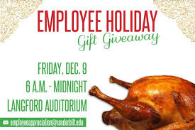 annual employee gift giveaway is dec 9 myvu