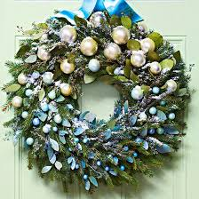 Blue Decorated Christmas Wreaths by Creative Christmas Wreaths Spray Glitter Wreaths And Sprays