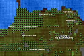 Classic Maps Map Tour The Classic Nintendo 8 Bit Version Of San Francisco