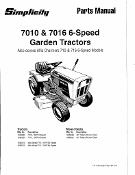 simplicity lawn mower 7016 user guide manualsonline com