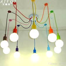 colorful hanging light with discount silicone pendant lights diy
