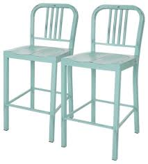 set of 2 vintage metal counter stool beach style bar stools