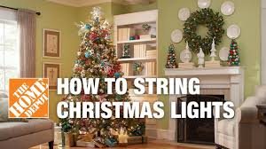 restring christmas tree lights how to string lights on a christmas tree youtube