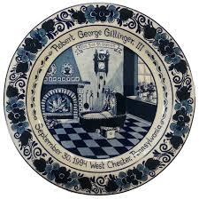 personalized birth plates personalized blue delft birth plate by royal goedewaagen