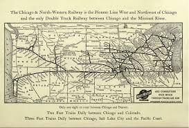 Chicago Railroad Map by Chicago Burlington U0026 Quincy Railroad
