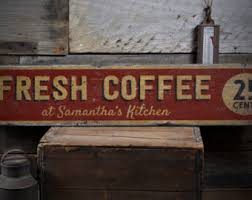 Cafe Home Decor Coffee Wood Sign Etsy
